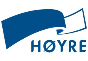 Logoen til Høyre.