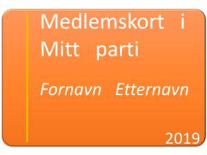 Illustrasjon av et medlemskort i et politisk parti.