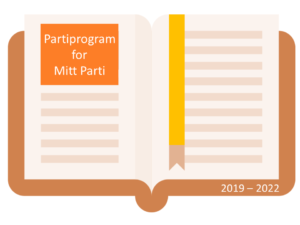 Illustrasjon av et partiprogram.