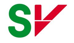 Logo til Sosialistisk Venstreparti med bokstavene SV