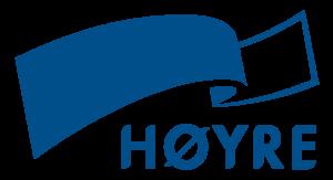 Sløyfe med teksten Høyre