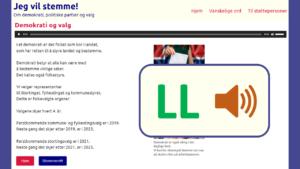 Bilde av en nettside med lettlestsymbol og tegnspråksymbol
