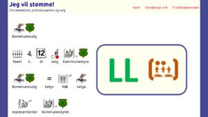 Miniatyr av nettsiden med enkel lettlest og piktogrammer