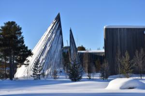 Sametinget i vinterlandskap