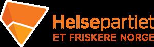 Helsepartiets logo med opp-ned pyramid og teksten 'Helsepartiet, Et friskere Norge